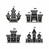 Castle icons Stock Photo