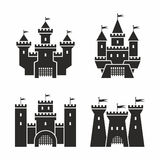 Castle icons Royalty Free Stock Image