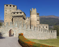Castle In Italy, Aosta Royalty Free Stock Photography