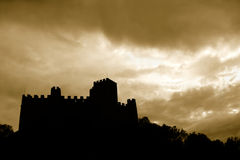 Castle In Silhouette Stock Photos