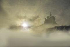 Castle inclouds 3 Stock Image