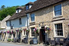 The Castle Inn, Castle Combe. Royalty Free Stock Images