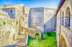 Castle Inner Courtyard Royalty Free Stock Photos