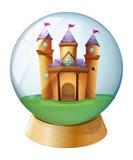 A castle inside a crystal ball Stock Photos