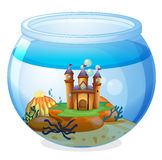 A castle inside the jar Royalty Free Stock Images