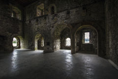 Castle Interior. Doune Castle Interiot, Film set for Game of therones, and Monty Python and the Holy Grail Stock Photos
