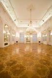 Castle interior, mirror room. White castle interior, mirror room Royalty Free Stock Photos