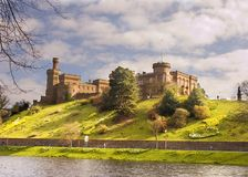 Castle at Inverness. HDR image of Inverness Castle, on the banks of the river Ness, Inverness , Scotland Stock Photo