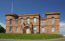 Castle in Inverness, Scotland Royalty Free Stock Photo