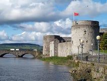 Castle,ireland. Stones castle and bridge ireland,limerick Stock Image