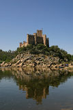 Castle island. Castle in a island in portugal royalty free stock photos