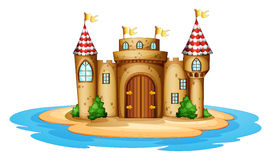 A castle in the island Royalty Free Stock Photos