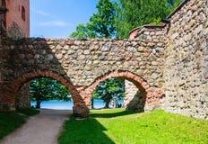 The castle on the island. Trakai Stock Photo