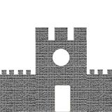 Castle isolated on white background.  Stock Photography