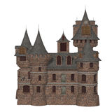 Castle, isolated on the white background Royalty Free Stock Photography