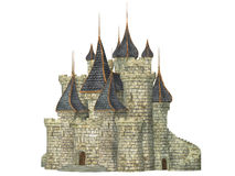 Castle, isolated on the white background Royalty Free Stock Photos