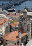 Castle in Istambul. Overview of antique castle from bird view Royalty Free Stock Photos