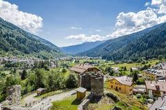 Castle in italian alps Stock Image