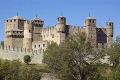 Castle in Italy, Aosta Royalty Free Stock Photo