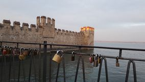 Castle in Italy beach. Old castles in Italy Royalty Free Stock Image