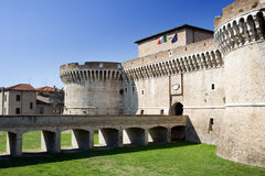 Castle in Italy - Rocca Roveresca. Built in 1480. Senigallia, Adriatic Coast Stock Photo