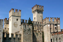 Castle in Italy - Sirmione. Very old, nice castle in Sirmione, a small place in Italy royalty free stock photography