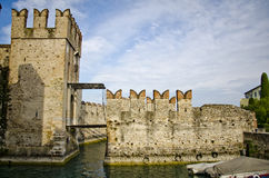 Castle in Italy - Sirmione, Lago di Garda Stock Photos