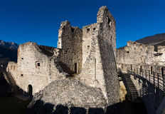 Castle in Italy. View of Beseno castle in Trentino, Italy Stock Photos