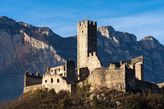 Castle in Italy. View of Drena castle in Trentino, Italy Stock Photos