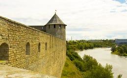 Castle Ivangorod, Russia Royalty Free Stock Photography