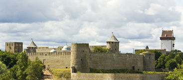 Castle Ivangorod, Russia Stock Photos