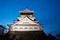 Castle in the Japanese at Kokura of moonlight night Stock Photography