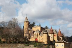 Castle of Jarnioux in Beaujolais Stock Photography