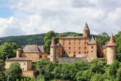 Castle of Jarnioux in Beaujolais Royalty Free Stock Image