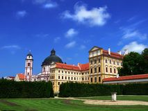 Castle in Jaromerice. Czech republic,  baroque castle  in Jaromerice nad Rokytnou in the Czech republic Royalty Free Stock Images