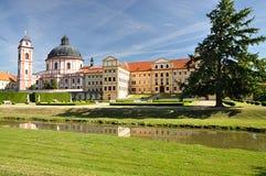 Castle Jaromerice nad Rokytnou, Czech republic, Europe. Park and castle Jaromerice nad Rokytnou, Czech republic, Europe Stock Photo