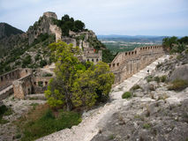 Castle at Jativa, Valencia y Murcia, Spain Royalty Free Stock Image