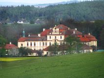 Castle Jemniste, Baroque castle in Bohemia, cultural heritage stock photo