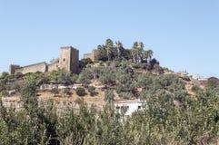 Castle of Jerez de los caballeros Stock Images