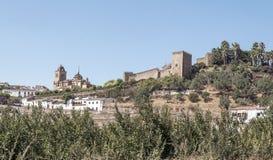 Castle of Jerez de los caballeros Royalty Free Stock Photography