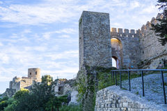 Castle Jimena de la Frontera, Cadiz, Spain Stock Photos