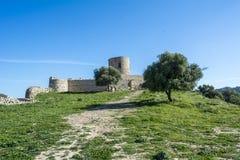 Castle Jimena de la Frontera, Cadiz, Spain Stock Photo