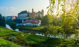 Castle in Jindrichuv Hradec stock photos