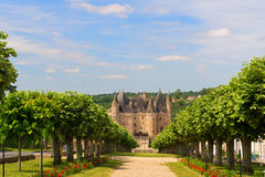 Castle JUMILHAC LE GRAND in France Stock Images