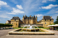 Castle JUMILHAC LE GRAND in France Royalty Free Stock Photo