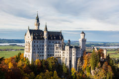 The Castle in Jungle, Schloss Neuschwanstein - Fussen, Germany Royalty Free Stock Photo