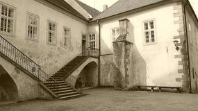 Castle KÅ™ivoklà ¡ τ, Pà ¼ rglitz Στοκ Φωτογραφία