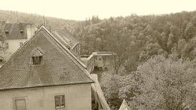 Castle KÅ™ivoklà ¡ τ, Pà ¼ rglitz Στοκ Φωτογραφίες