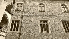Castle KÅ™ivoklà ¡ τ, Pà ¼ rglitz στοκ εικόνα