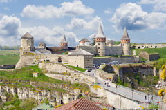 Castle in Kamianets-Podilskyi Stock Images